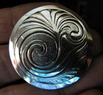 Spiral scroll medallion